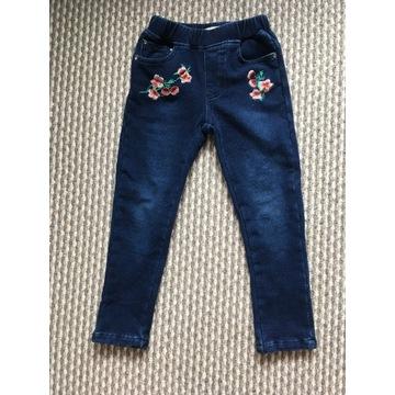 legginsy jeansowe dziewczęce ocieplane 5l 104/110
