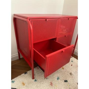 Komoda IKEA NIKKEBY czerwona