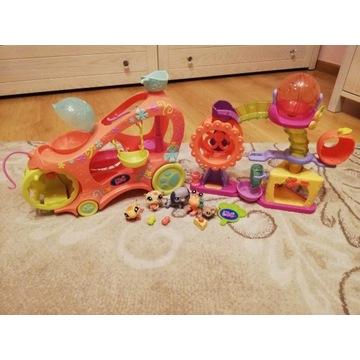 Littlest pet shop LPS zestaw plac zabaw, samochód