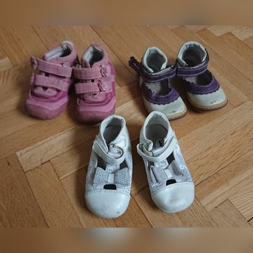 3 pary bucików
