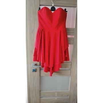 Piękna czerwona sukienka rozm. 36 / 38 M