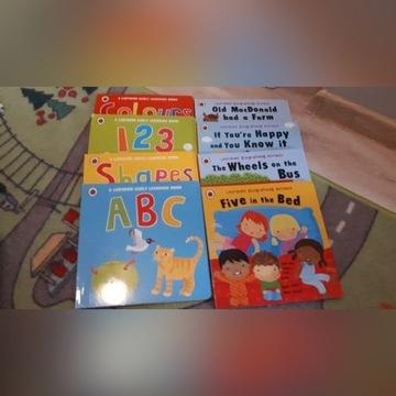 Książki język angielski liczby alfabet kolory 8szt
