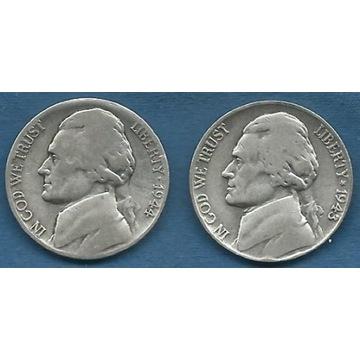 USA,  5 Centów 1943 / 1944