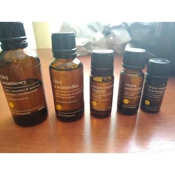 Olej olejek wiesiołka sezamowy cedrowy palmaroza