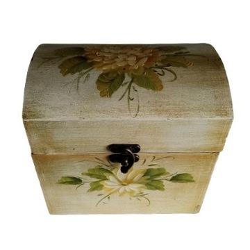 Stara drewniana szkatułka Vintage  , duża.
