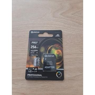 PLATINET KARTA PAMIĘCI microSDHC ADAPTER SD 256GB