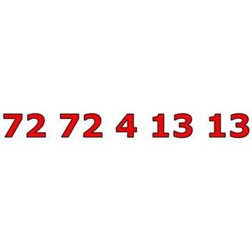 72 72 4 13 13 ŁATWY ZŁOTY NUMER STARTER