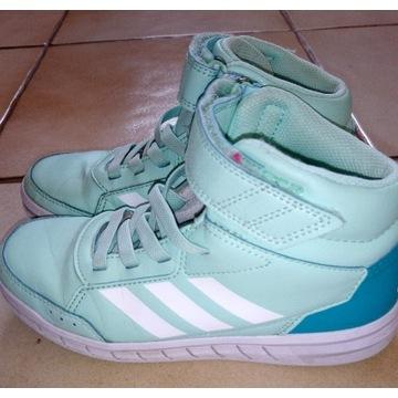 Adidas hoops 32 miętowe buty sportowe
