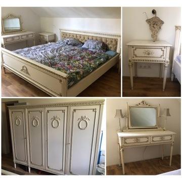 sypialnia stylowa  komplet ludwik eklektyczna