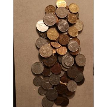 Zestaw ponad 100 szt monet