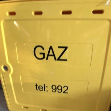 Skrzynka gazowa Szafka Żółta z tworzywa 60x60x25