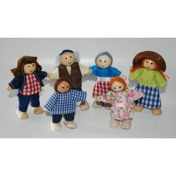 Zestaw mini lalek drewnianych