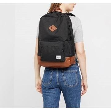 Plecak Herschel Heritage czarny miejski jak nowy