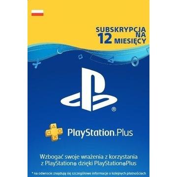 PlayStation Plus 365 dni 1 rok PS4 KOD KLUCZ