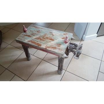 stolik indyjski, wymiary blatu 30x54x 37 (wys)