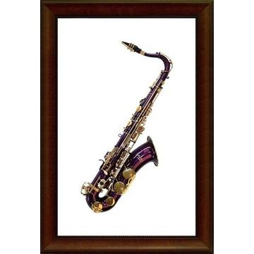 Saksofon tenor fioletowy K.Glaser niemiecki M149