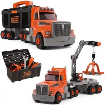 SMOBY ciężarówka narzędzia dźwig 3w1 BLACK DECKER