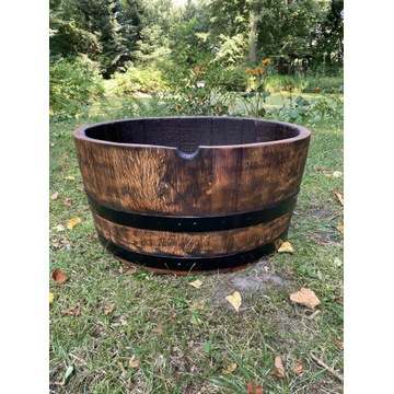 Donica drewniana dębowa ogrodowa z beczki po winie