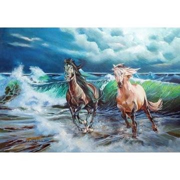 """""""Nie zatrzymuj koni"""" -  Obraz olejny"""