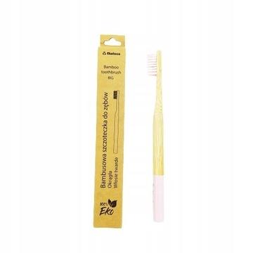 Bambusowa szczoteczka do zębów eko twarda różowa