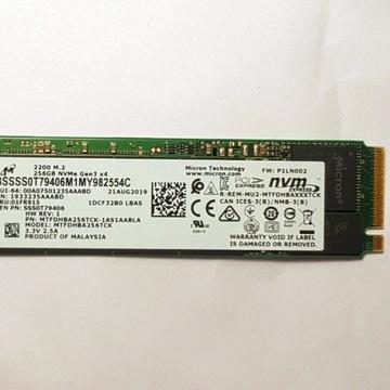 Dysk NVMe 256GB Micron 2200 - prawie nowy