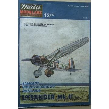 Mały Modelarz 12/97 samolot LYSANDER Mk.II
