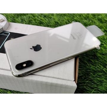 iPhone X 64GB SILVER Srebrny Biały Szary Bat100%