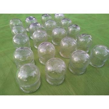 Bańki lekarskie szklane ogniowe 20szt 40mm z PRL-u