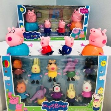 Duży zestaw: Figurki Świnka Peppa + Przyjaciele