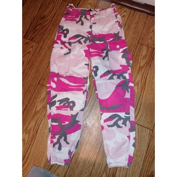 Spodnie bojówki TOPSHOP moro damskie