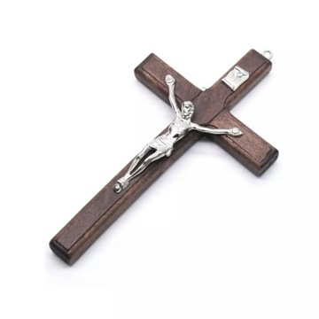 Krzyż na ścianę wiszący krzyżyk drewniany