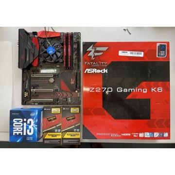 Płyta główna ASROCK Z270 K6 Gaming komplet