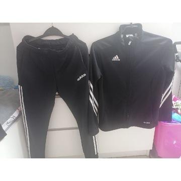 Dres adidas 9-10 lat 134,140 czarny bluza spodnie
