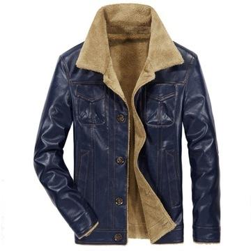 Męska zimowa ciepła kurtka w stylu Casual
