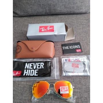 Nowe okulary przeciwsłoneczne Ray Ban Aviator