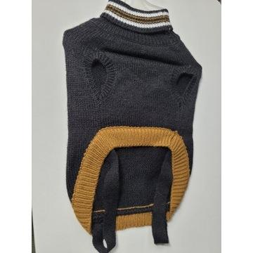 Sweterek z kołnierzykiem dla psa M