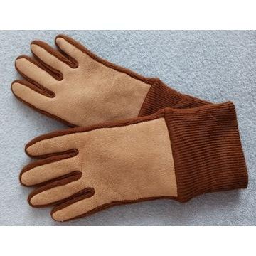 rękawiczki damskie zimowe r. M ocieplane kamelowe