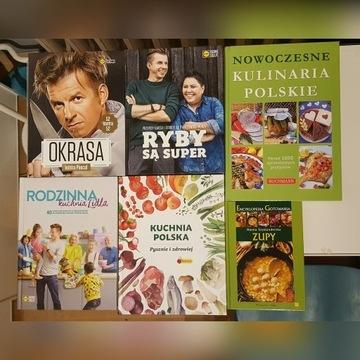 Zestaw książek kucharskich. Książka Kucharska