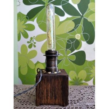 Lampka upcyclingowa edison loft handmade