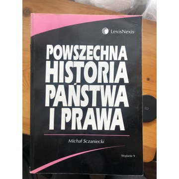 Powszechna historia panstwa i prawa Szczaniecki