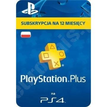 PLAYSTATION PLUS 365 DNI 12 MIESIĘCY PS4 NAJTANIEJ