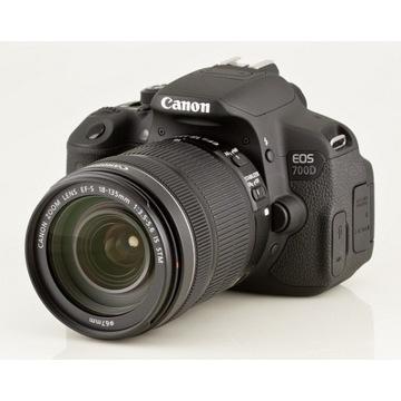Lustrzanka Canon EOS 700D korpus + obiektyw