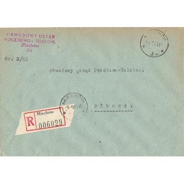 Miechów - Koperty listów poleconych 1960-80