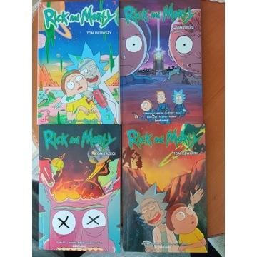 Rick and Morty komiksy tom 1, 2, 3, 4 dobre stany