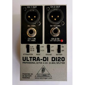 Behringer DI-20 DI20 DI-box aktywny