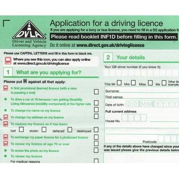 formularz DVLA D1 angielskie brytyjskie prawo jazd