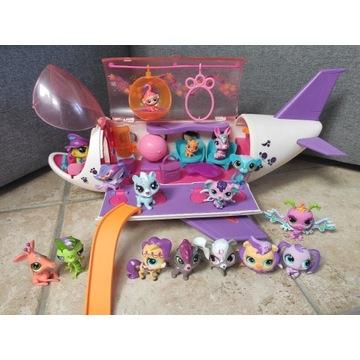 Littlest Pet Shop samolot z wyposażeniem + 16 LPS