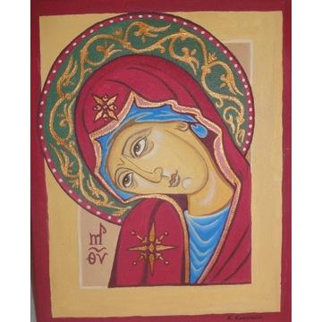 obraz olejny - Matka Boża / Maryja / Ikona