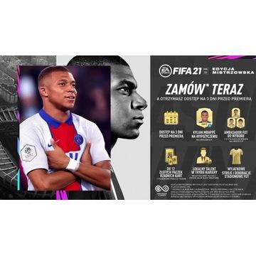 FIFA 21 PS4 Edycja Mistrzowska
