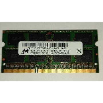 PAMIĘĆ 2GB DDR3 SODIMM PC3-10600S 1333MHz MICRON
